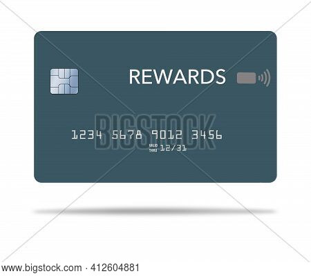 Here Is A  Reward Credit Card. It Is 3-d And Generic.