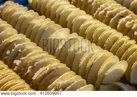 Unhealthy Food, Cooking Potato Chips, Street Food, A Treat, Frying Fat, Unhealthy Food In Thailand M