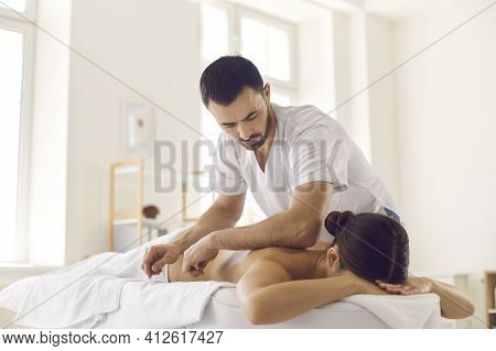 Massage Bodycare In Medical Clinic From Professional Doctor Masseur