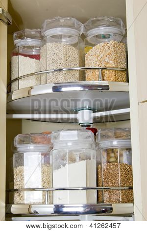 Grain In Glass Food Storage Jar
