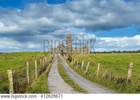 Ross Errilly Friary Is A Medieval Franciscan Friary Located About A Mile To The Northwest Of Headfor