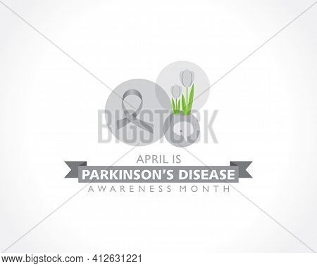 Vector Illustration Of World Parkinson's Disease Awareness Month Observed In April Every Year