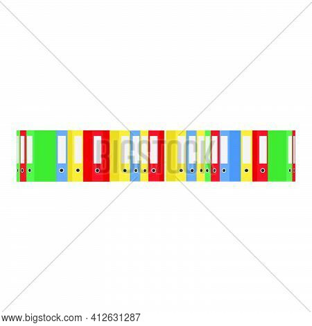 Office Document Business File Folder Vector Illustration. Archive Office File Datum Sign Paper Isola