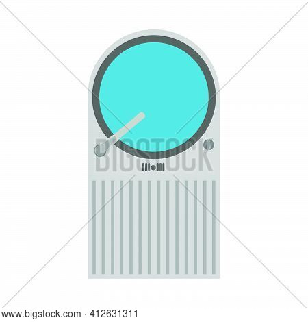 Kitchen Water Sink Faucet Vector Illustration Interior Isolated White. House Kitchen Sink Basin Icon