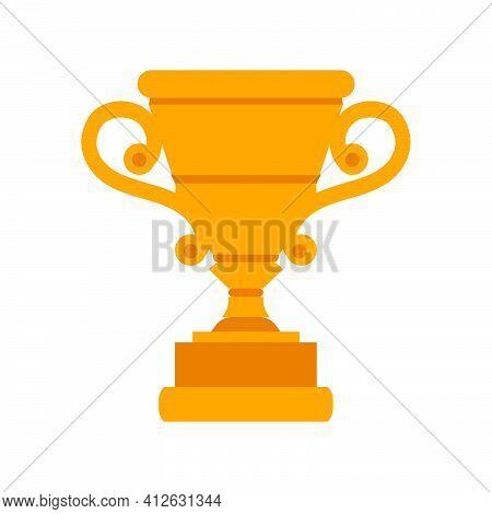 Golden Cup Vector Success Award Shiny Illustration. Sport Gold Achievement Icon Trophy Prize Celebra
