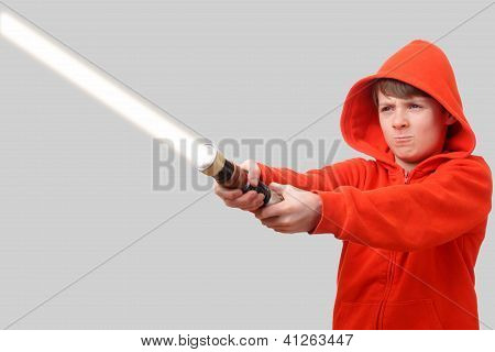 Boy With Lightsaber