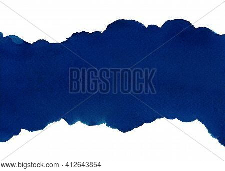Dark Blue Abstract Watercolor Background For Textures Backgrounds And Web Banners Design. Abstract