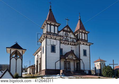 Ancient Church Of St George In Polonechka Village, Brest Region, Belarus.