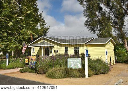 IRVINE, CA - JULY 9,2016: Audubon House at the San Joaquin Wildlife Sanctuary, Irvine Ca. Adjacent to San Diego Creek the sanctuary's 300 acres of constructed wetlands serve as a bird habitat.