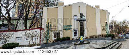 Rivne. Ukraine. March 2021..monument To Simon Petlyura (petliura), The Main Chieftain Of The Troops