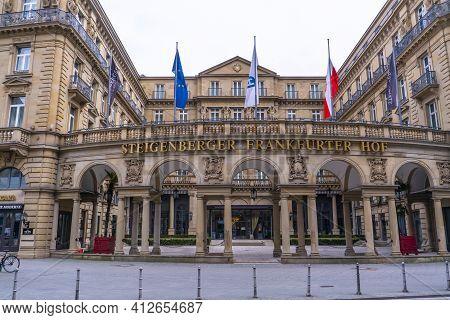 Famous Hotel Steigenberger Hof In Frankfurt Germany - Frankfurt, Germany - March 11, 2021