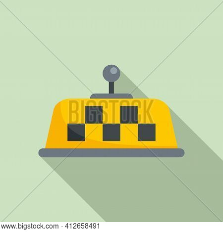 Unmanned Taxi Position Sensor Icon. Flat Illustration Of Unmanned Taxi Position Sensor Vector Icon F