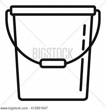 Farm Bucket Icon. Outline Farm Bucket Vector Icon For Web Design Isolated On White Background
