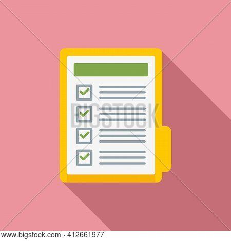 Affiliate Marketing Folder Icon. Flat Illustration Of Affiliate Marketing Folder Vector Icon For Web