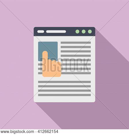 Online Affiliate Marketing Icon. Flat Illustration Of Online Affiliate Marketing Vector Icon For Web