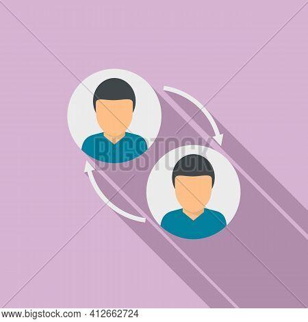 Social Affiliate Marketing Icon. Flat Illustration Of Social Affiliate Marketing Vector Icon For Web