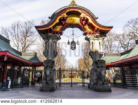 Berlin Zoo In The City Center Of Berlin - Berlin, Germany - March 11, 2021