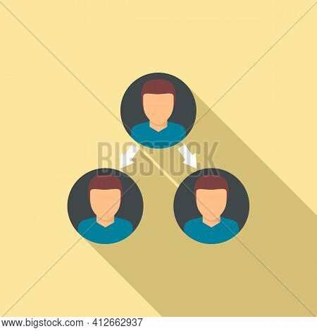 Referral Affiliate Marketing Icon. Flat Illustration Of Referral Affiliate Marketing Vector Icon For