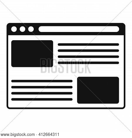 Affiliate Marketing Web Page Icon. Simple Illustration Of Affiliate Marketing Web Page Vector Icon F