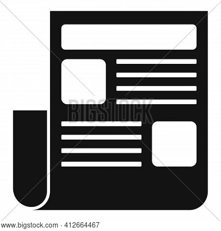 Marketing Doc Icon. Simple Illustration Of Marketing Doc Vector Icon For Web Design Isolated On Whit
