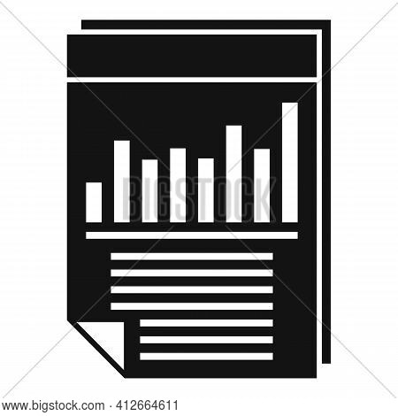 Affiliate Marketing Graph Paper Icon. Simple Illustration Of Affiliate Marketing Graph Paper Vector