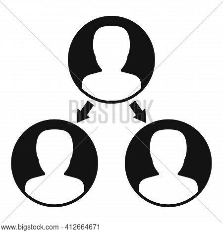 Referral Affiliate Marketing Icon. Simple Illustration Of Referral Affiliate Marketing Vector Icon F