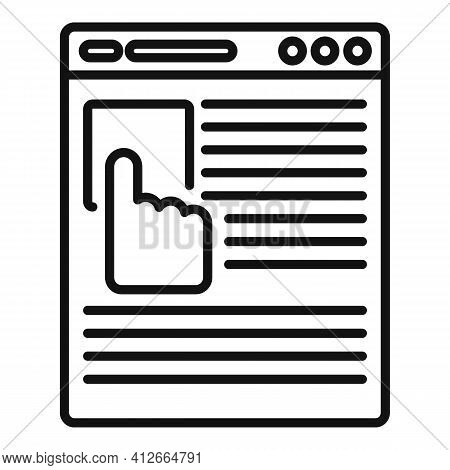 Online Affiliate Marketing Icon. Outline Online Affiliate Marketing Vector Icon For Web Design Isola