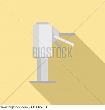 Metro Turnstile Icon. Flat Illustration Of Metro Turnstile Vector Icon For Web Design