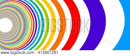 Colorful Rainbow Abstract Vector Lines Psychedelic Optical Illusion Illustration, Surreal Op Art Lin