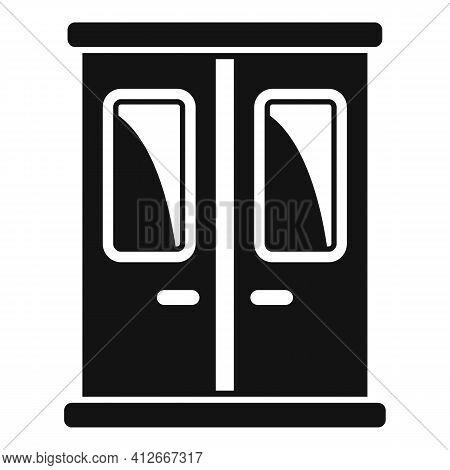 Metro Train Door Icon. Simple Illustration Of Metro Train Door Vector Icon For Web Design Isolated O