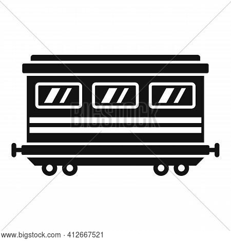 Old Passenger Wagon Icon. Simple Illustration Of Old Passenger Wagon Vector Icon For Web Design Isol