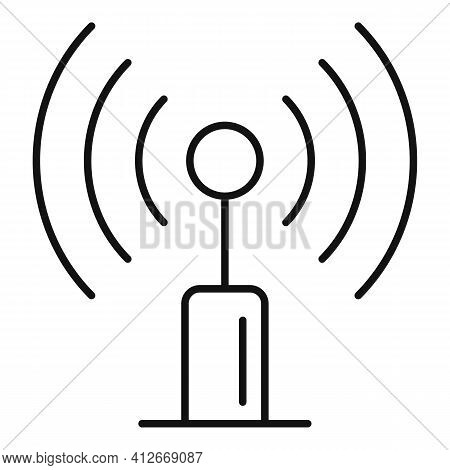 Radio Antenna Icon. Outline Radio Antenna Vector Icon For Web Design Isolated On White Background