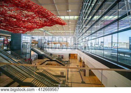 Berlin Brandenburg Airport Ber In Berlin - Berlin, Germany - March 11, 2021