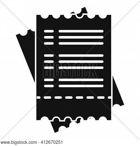 Tax Payment Bill Icon. Simple Illustration Of Tax Payment Bill Vector Icon For Web Design Isolated O