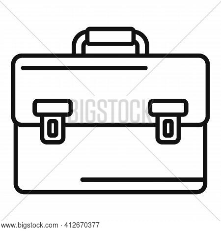 Tax Inspector Briefcase Icon. Outline Tax Inspector Briefcase Vector Icon For Web Design Isolated On