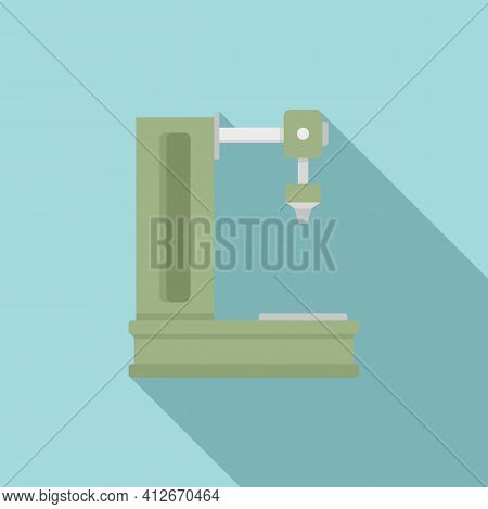 Milling Machine Icon. Flat Illustration Of Milling Machine Vector Icon For Web Design