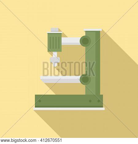 Electric Milling Machine Icon. Flat Illustration Of Electric Milling Machine Vector Icon For Web Des