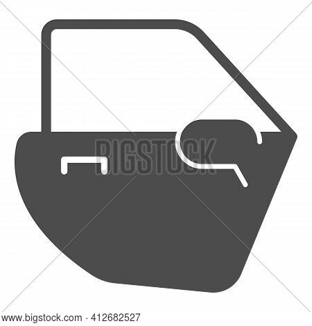 Car Door Solid Icon, Car Parts Concept, Automobile Door Sign On White Background, Auto Service And C