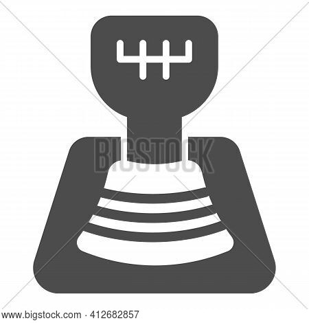 Automotive Gear Knob Solid Icon, Car Parts Concept, Car Transmission Sign On White Background, Gear