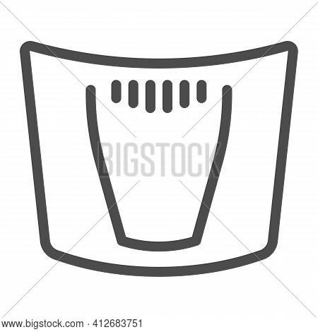 Car Hood Line Icon, Car Parts Concept, Car Bonnet Sign On White Background, Automobile Hood Icon In