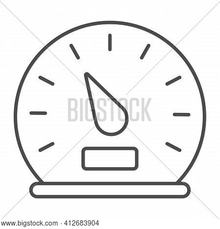 Car Speedometer Thin Line Icon, Car Parts Concept, Car Instrument Sign On White Background, Speedome