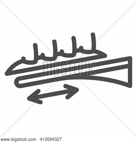 Extreme Roller Line Icon, The Rides Concept, Roller Coaster Ride Sign On White Background, Amusement