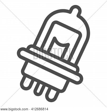 Car Light Bulb Line Icon, Car Parts Concept, Auto Bulb Sign On White Background, Car Lights Icon In