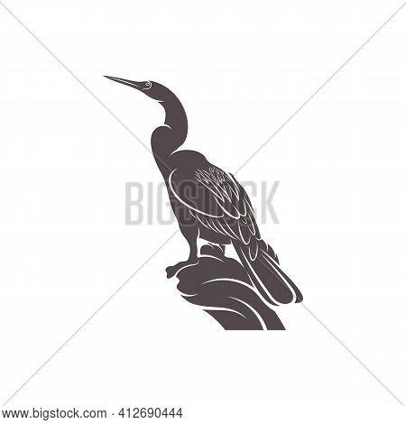 Snake Bird Design Vector Illustration, Creative Snake Bird Logo Design Concept Template, Symbols Ico