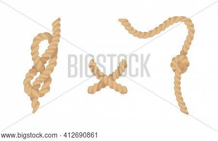 Knot As Complication Of Cordage With Bend And Loop Vector Set