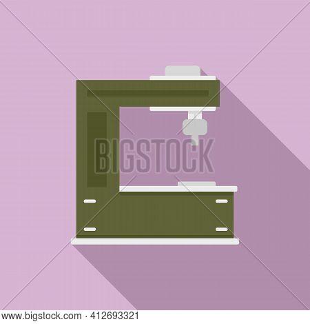 Cutter Milling Machine Icon. Flat Illustration Of Cutter Milling Machine Vector Icon For Web Design