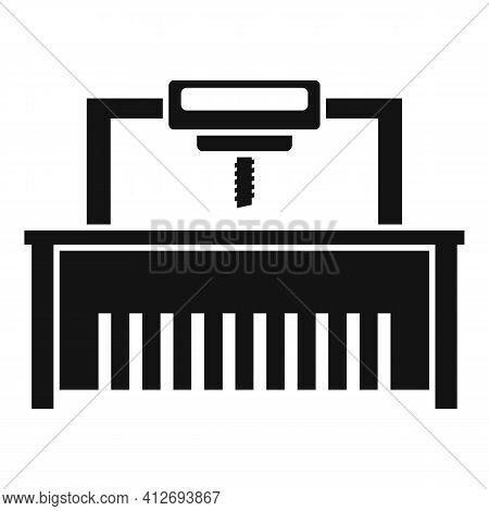 Milling Machine Beam Icon. Simple Illustration Of Milling Machine Beam Vector Icon For Web Design Is