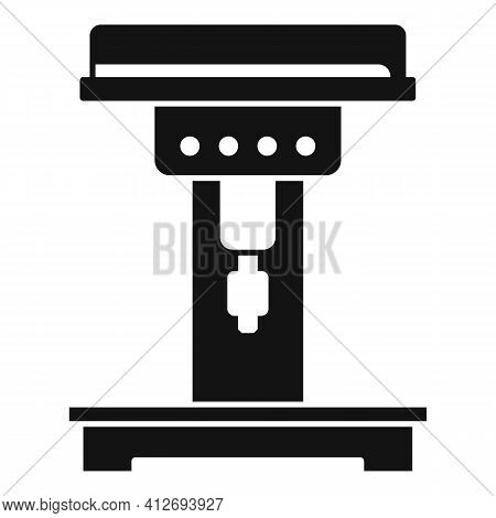 Engineer Milling Machine Icon. Simple Illustration Of Engineer Milling Machine Vector Icon For Web D