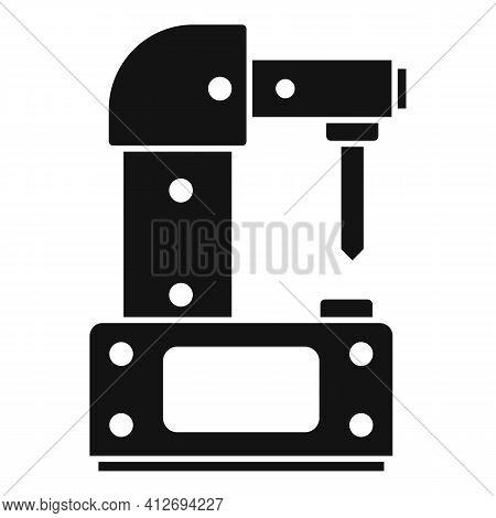 Steel Milling Machine Icon. Simple Illustration Of Steel Milling Machine Vector Icon For Web Design