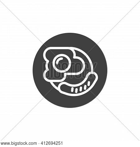 English Breakfast Plate Vector Icon. Filled Flat Sign For Mobile Concept And Web Design. Breakfast W
